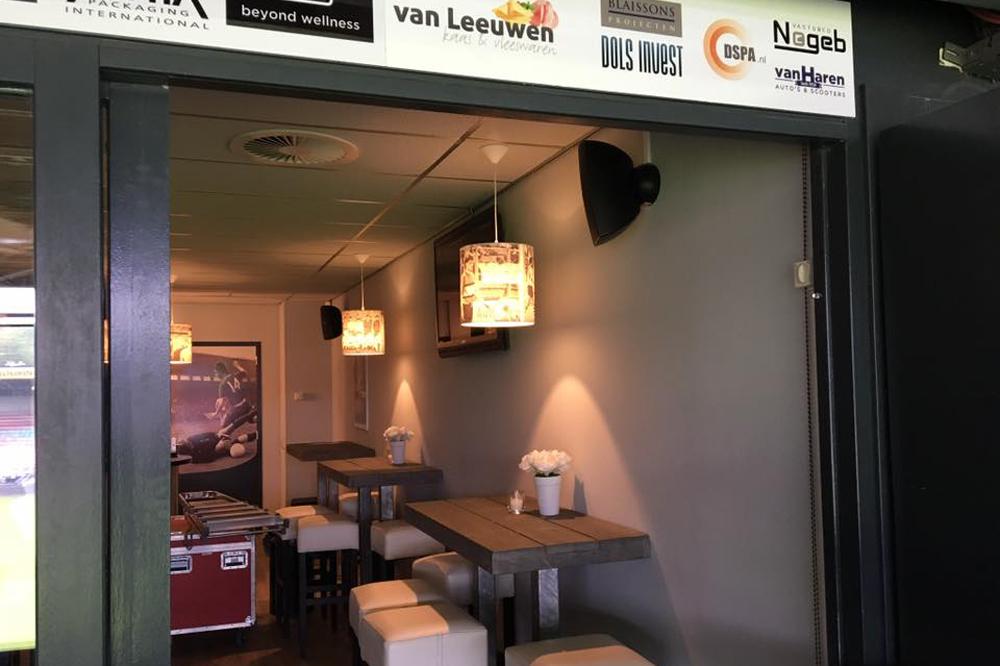 Skybox Goffertstadion Nijmegen voorzien van Audac installatie