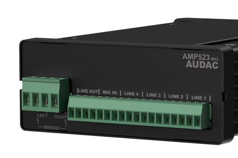 Audac AMP523 MK2 web-based mini stereo versterker
