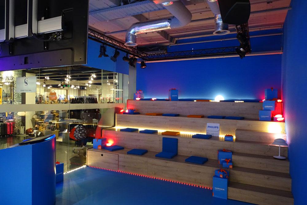 AUDAC installatie in wachtruimte CoolBlue shops