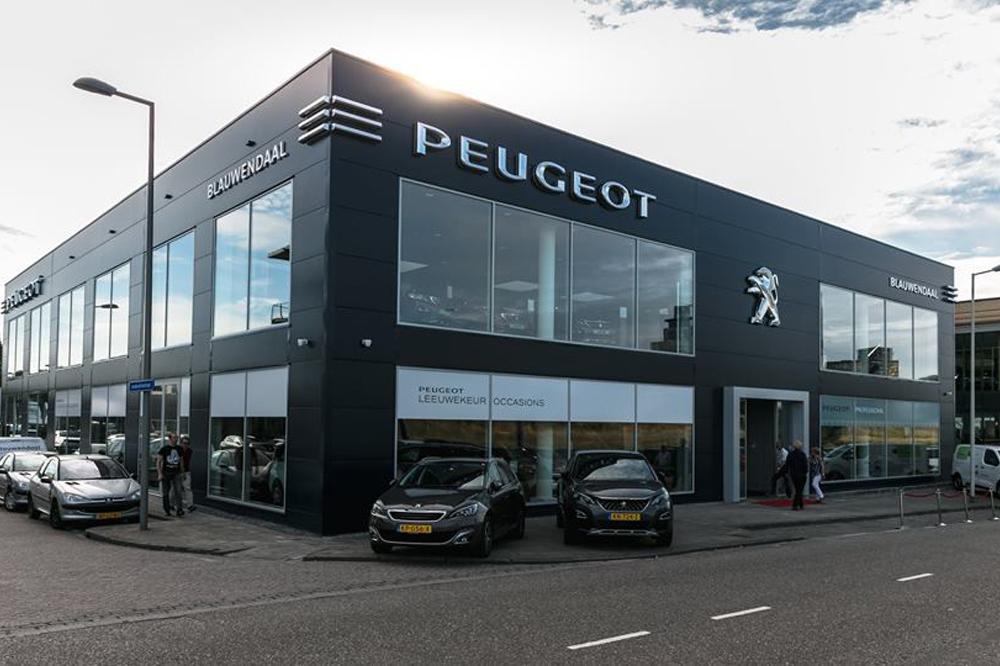 Showroom achtergrondmuziek systeem voor Peugeot Blauwendaal