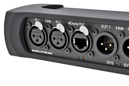 Neutrik NA2-IO-DLINE Line I/O Dante Interface