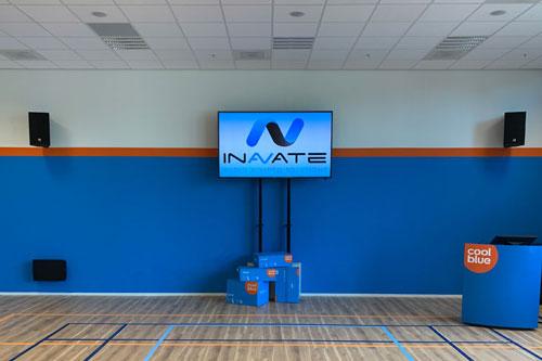 AUDAC installatie voor bedrijfspresentaties bij CoolBlue in Tilburg