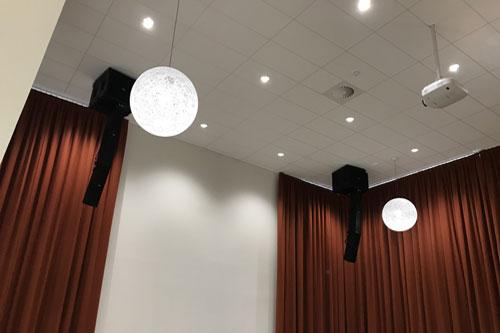 FBT geluidsinstallatie voor aula van het Linge College in Tiel