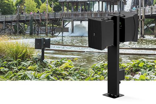 Outdoor speakers plaatsen met de AUDAC MBK556