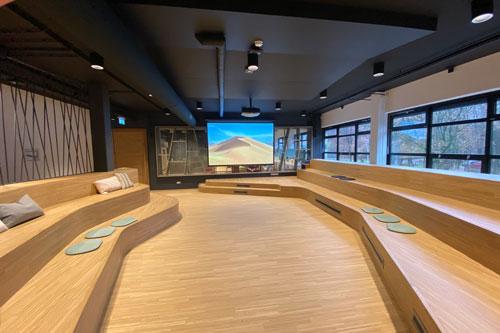 Forum ruimte Maaswaal College met FBT / AUDAC Geluidsinstallatie