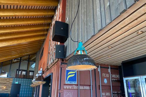 AUDAC installatie voor Strandpaviljoen De Zeemeeuw