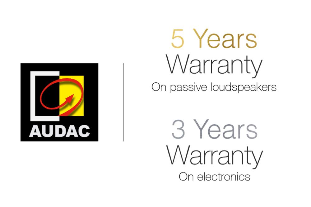 Verlengde garantietermijnen op AUDAC producten