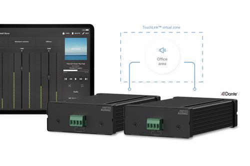AUDAC Touchlink technologie, eenvoudig extra zones creeren