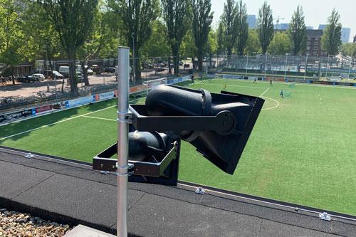Voetbalcomplex Voetbalvereniging Swift met AUDAC hoornluidsprekers