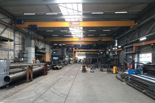 Productiehallen Staalfabriek Dijkstaal met AUDAC Projectors