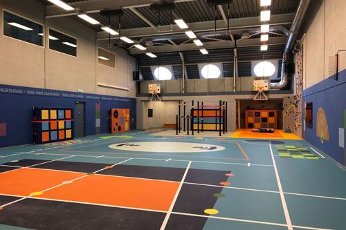 FBT audio installatie voor gymzaal Hogeschool van Amsterdam