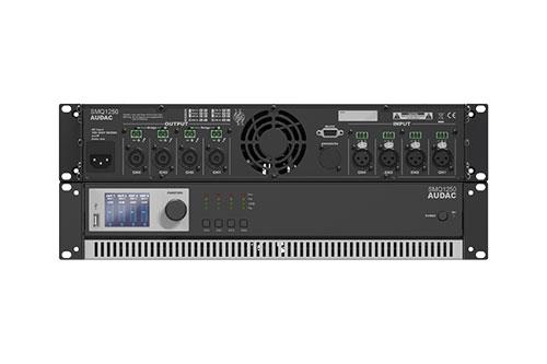 AUDAC SMQ1250, 5000 Watt vermogen, 4 kanalen en Dante optie